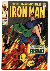 IRON MAN #3 1968-Silver-Age-Marvel Comic Book VF