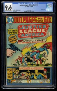 Justice League of America #114 CGC NM+ 9.6 Off White to White DC Comics