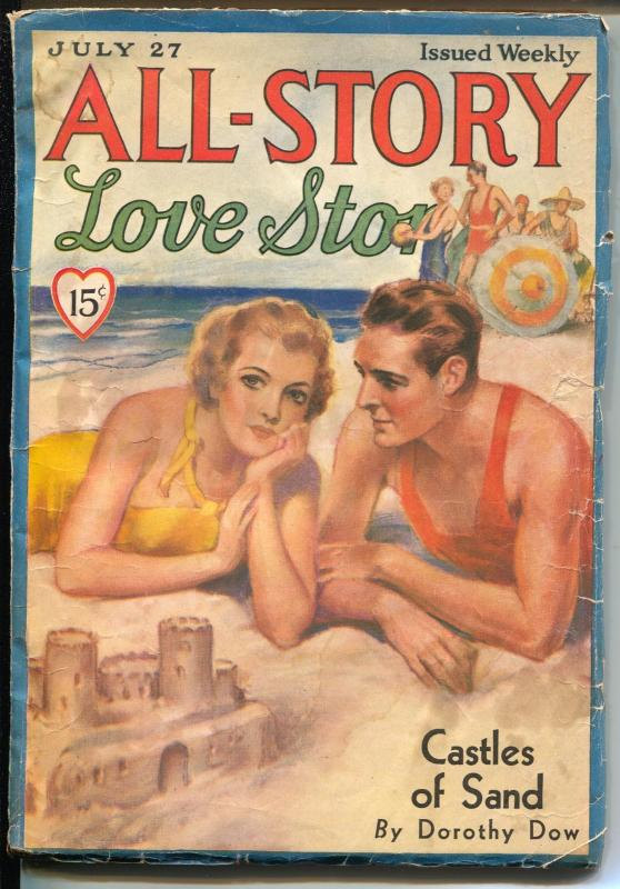 All-Story Love Stories 7/27/1935-romantic pulp fiction-Dorothy Day-VG-