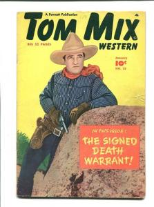TOM MIX #25-1950-PHOTO COVER-DEATH WARRANT VG
