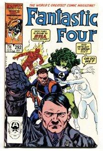 Fantastic Four #292 comic book - Hitler cover -comic book