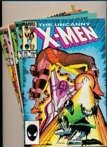 MARVEL Great LOT!!! UNCANNY X-MEN #194-196,199-200,202 VG/F (PJ71)
