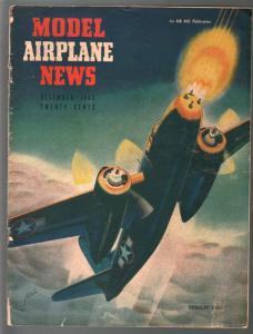 Model Airplane News 12/1943-Douglas Havoc-WWII era-pix-diagrams-VG