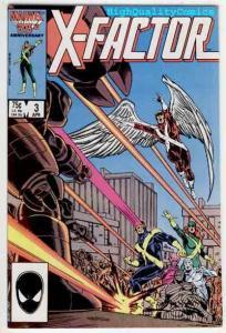 X-FACTOR #3, VF+, Bob Layton, Beast, Marvel Girl, Cyclops, 1986, more in store
