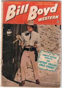 Bill Boyd Western #7 (Oct-50) VG Affordable-Grade Bill Boyd