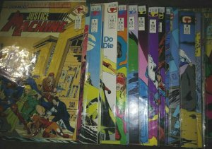 justice machine # 1 4-16 18 19 21-27 29+annualls+new justice 1 1987 comico