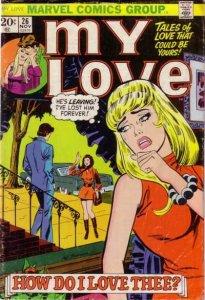 My Love (1969 series) #26, VG (Stock photo)