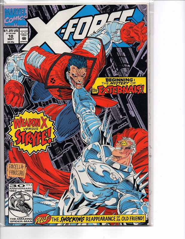 Marvel Comics X-Force Vol. 1 #10 Cable Cannonbal; Domino