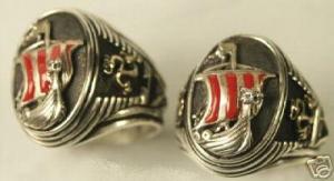 Viking Dragon ship ring