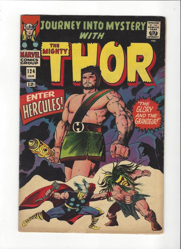 Journey Into Mystery #124{1st} The Mighty Thor Enter Hercules HI- Grade