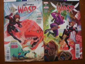 4 Mint Marvel Comic: THE UNSTOPPABLE WASP #1 2 3 4 (2018 2019) (Agent Moon Girl)