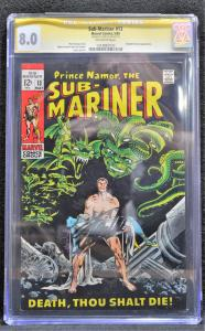Sub-Mariner #13 (Marvel, 1969) CGC SS 8.0 Stan Lee