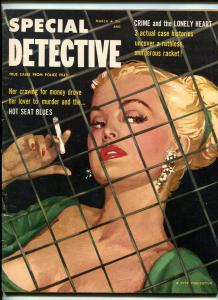 SPECIAL DETECTIVE 02/1955-SPICY GOOD GIRL ART-LURID CRIME STORIES-vg