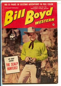 Bill Boyd Western #10 1951-Fawcett-Photo cover-52 page issue-Viewmaster ad we...