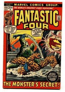 FANTASTIC FOUR #125-BRONZE AGE CLASSIC-HUMAN TORCH VF