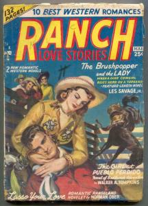 Ranch Love Stories Pulp #1 March 1950- Les Savage Jr