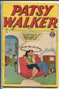 PATSY WALKER #22 1949-ATLAS-TV SET COVER-JEANIE-KURTSMAN-GOOD GIRL ART-good