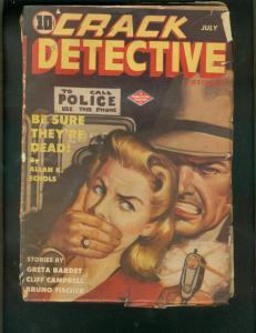 CRACK DETECTIVE STORIES PULP-7/1944-GOOD GIRL ART-WW II G/VG