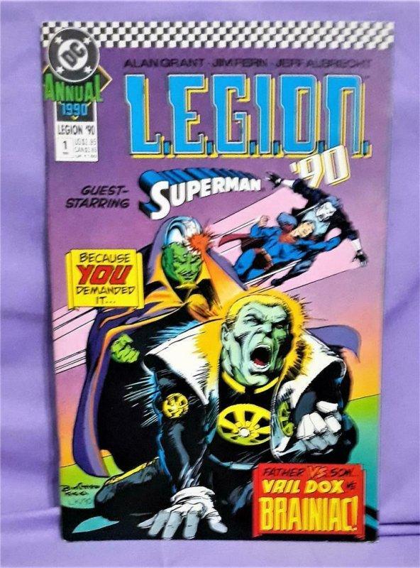Alan Grant Lobo L.E.G.I.O.N '90 Annual #1 Vril Dox v Brainiac (DC, 1990)!