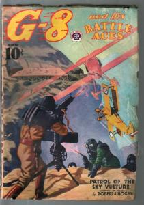 G-8 and His battle Aces 9/1938-Hero pulp-Sky Vulture Patrol-VG