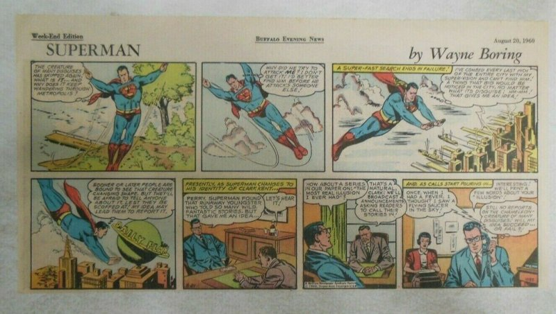 Superman Sunday Page #1088 by Wayne Boring from 8/20/1960 Size ~7.5 x 15 inches