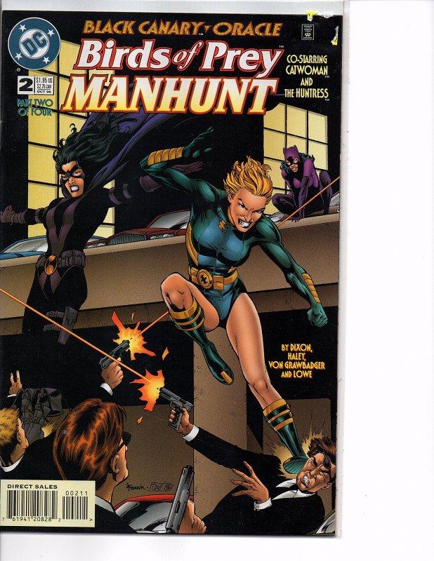 Dc Comics Birds Of Prey Manhunt 2 Catwoman Huntress Black Canary Oracle Hipcomic