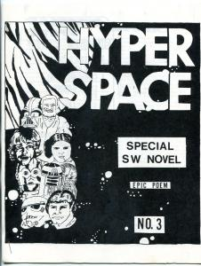 Hyper Space #3 1978-  Early Star Wars Fanzine Fan Fiction VF