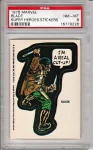 1976 Marvel Blade Sticker PSA 8 (NM-MT)