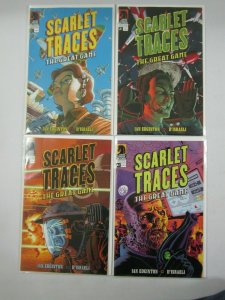Scarlet Traces The Great Game set #1-4 avg 8.0 VF (2006 Dark Horse)