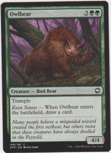 Magic the Gathering: Adventures in the Forgotten Realms - Owlbear