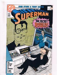 Superman #2 FN/VF DC Comics Comic Book John Byrne JLA Feb 1987 DE33 CH19