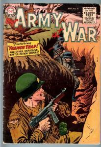 OUR ARMY AT WAR #39 1955-DC WAR-PRE CODE!-RUSS HEATH-TOMMY GUN CVR-VG VG