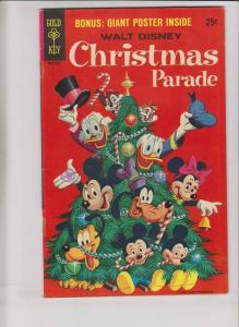 Walt Disney Christmas Parade #7 FN/VF gold key comics with poster - second print