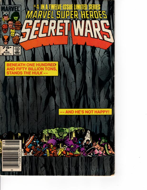 MARVEL Super Heroes Secret Wars (1984 Series) #4 Newsstand AUG 1984 FN/VF