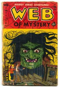 Web of Mystery #17 1953- Lou Cameron WITCH cover- Horror G