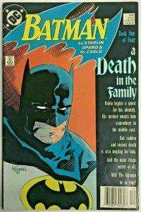 BATMAN#426 FN/VF 1988 'A DEATH IN THE FAMILY' DC COMICS