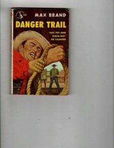 3 Books Danger Trail Ramrod Destiny Rides Again Western Murder Mystery JK27