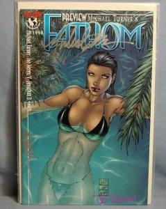 Top Cow Comics FATHOM Preview AUTOGRAPHED MICHAEL TURNER JD SMITH D. WHOL L@@K!!