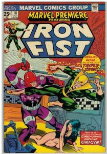 MARVEL PREMIERE 18 VG+ Oct. 1974  IRON FIST COMICS BOOK