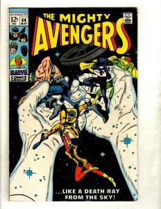 Avengers # 64 FN Marvel Comic Book Hulk Thor Iron Man Captain America GK2