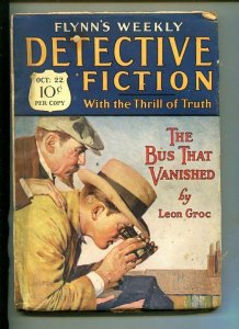 FLYNN'S WEEKLY DETECTIVE FICTION-OCT 22 1927-MYSTERY-LEON GROC-vg