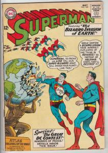 Superman #169 (May-64) VG/FN Mid-High-Grade Superman, Jimmy Olsen,Lois Lane, ...