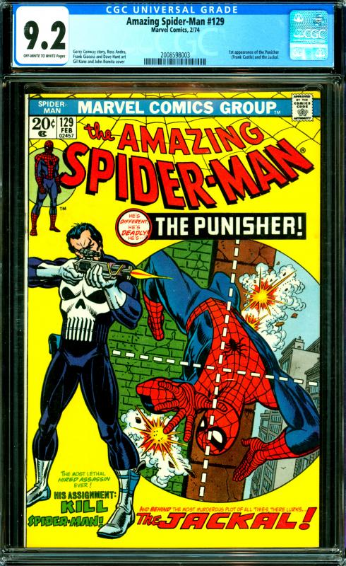 Amazing Spider-Man #129 CGC 9.2 1st the Punisher