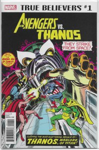 True Believers: Avengers versus Thanos #1 VF/NM (rep. #125) Englehart/Buscema