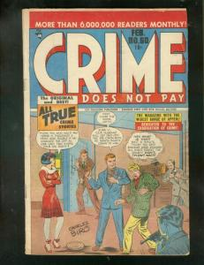CRIME DOES NOT PAY #60 1948-CHARLES BIRO-JESSE JAMES!! VG+