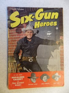 SIX-GUN HEROES # 5 GOLDEN AGE WESTERN HOPALONG LANE LARUE