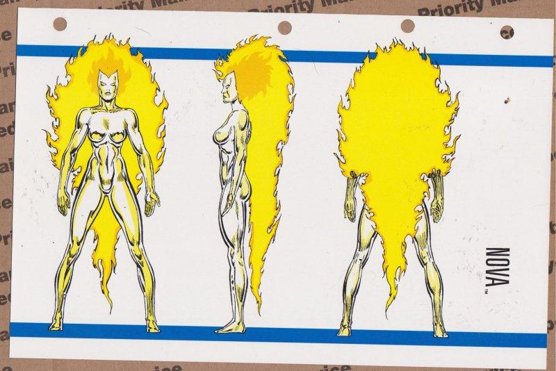 Official Handbook of the Marvel Universe Sheet- Nova