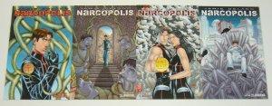Narcopolis #1-4 VF/NM complete series - wrap variants - jamie delano avatar set