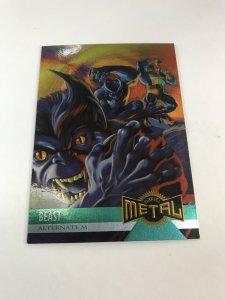 BEAST #126 card : Marvel Metal 1995 Fleer Chromium; NM/M X-men, base