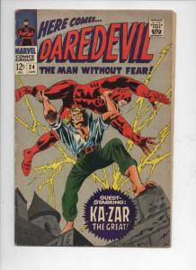 DAREDEVIL #24 VG, Gene Colan, Murdock, Ka-Zar, 1964 1967, more Marvel in store